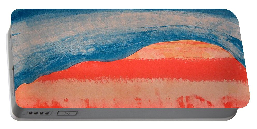 Georgia O'keeffe Portable Battery Charger featuring the painting Ghost Ranch Original Painting by Sol Luckman