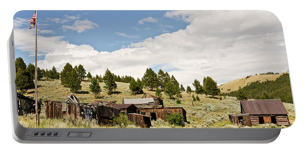 Montana Portable Battery Charger featuring the photograph Ghost Town In Summer by Sue Smith