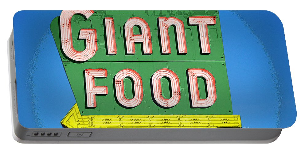 Giant Portable Battery Charger featuring the photograph Giant Food by Jost Houk