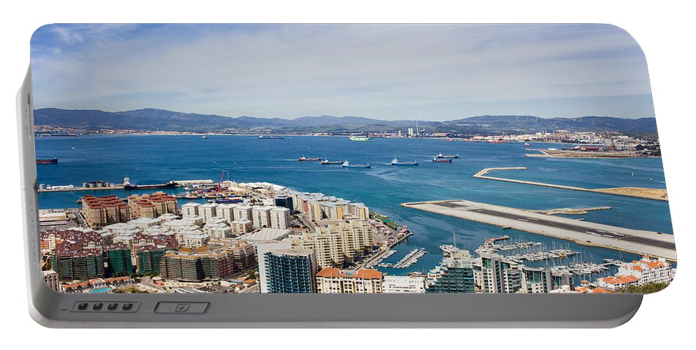 Gibraltar Portable Battery Charger featuring the photograph Gibraltar City And Bay by Artur Bogacki