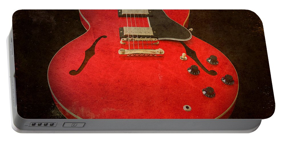 Guitar Portable Battery Charger featuring the photograph Gibson Es-335 Electric Guitar Body by John Cardamone