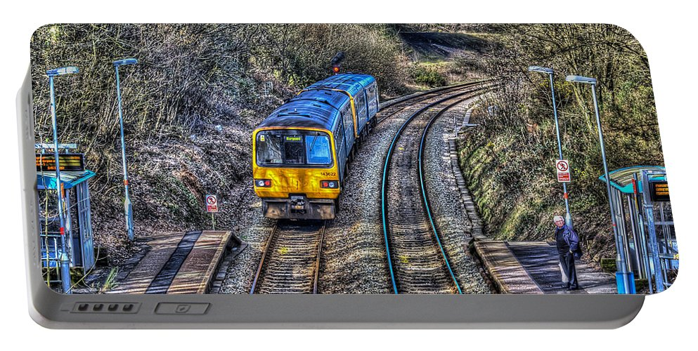 Gilfach Fargoed Railway Station Portable Battery Charger featuring the photograph Gilfach Fargoed Railway Station by Steve Purnell