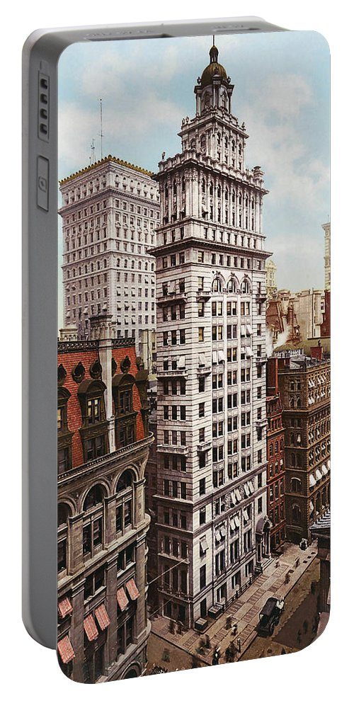 Gillender Building New York 1900 Portable Battery Charger featuring the digital art Gillender Building New York 1900 by Unknown