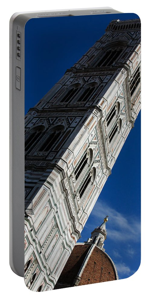Giotto Campanile Portable Battery Charger featuring the photograph Giotto Fantastic Campanile - Florence Cathedral - Piazza Del Duomo - Italy by Georgia Mizuleva