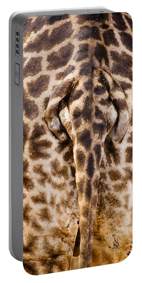 3scape Photos Portable Battery Charger featuring the photograph Giraffe Butt by Adam Romanowicz