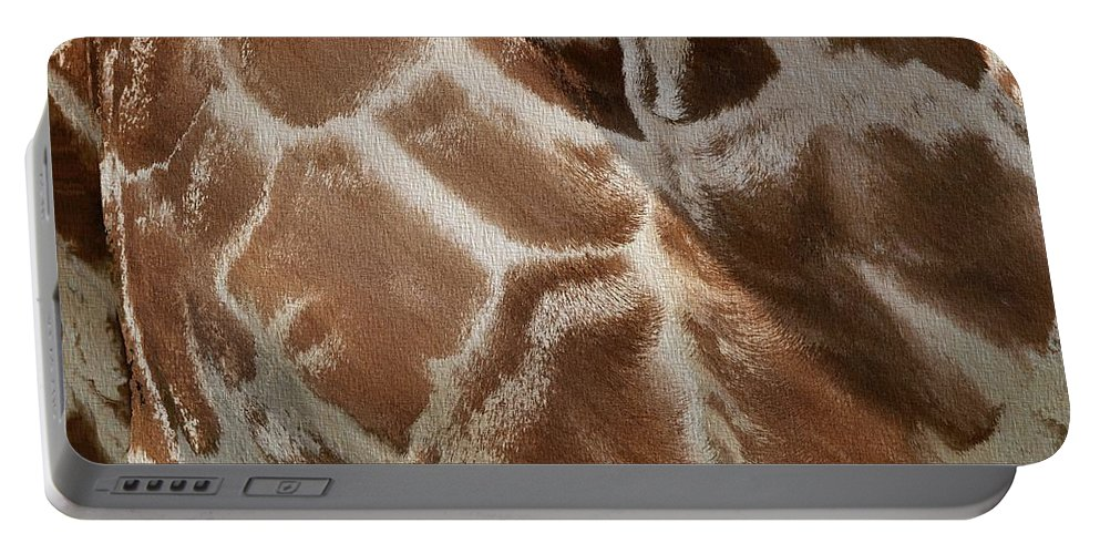 Giraffe Pattern Portable Battery Charger featuring the photograph Giraffe Patterns by Dan Sproul