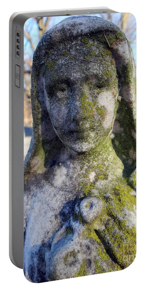 Statue Portable Battery Charger featuring the photograph Girl In Green by Ed Weidman