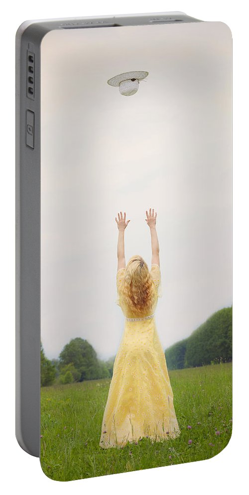 Woman Portable Battery Charger featuring the photograph Girl On Meadow by Joana Kruse