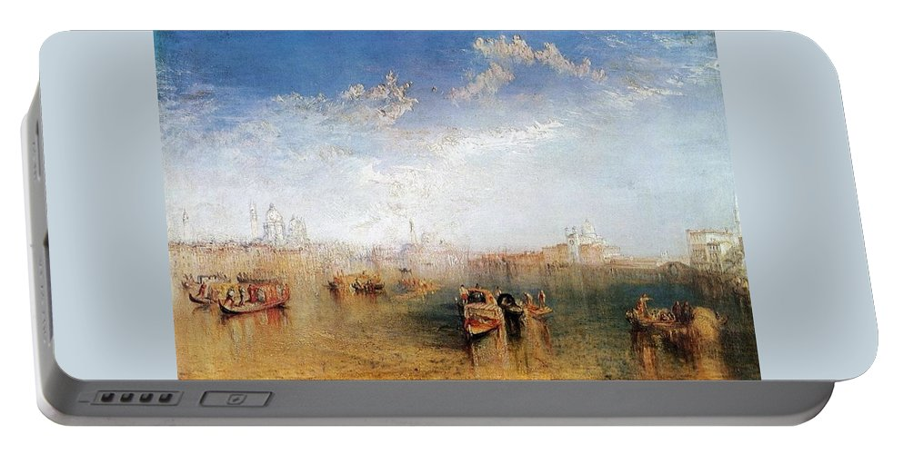 1841 Portable Battery Charger featuring the painting Giudecca La Donna Della Salute And San Georgio by JMW Turner