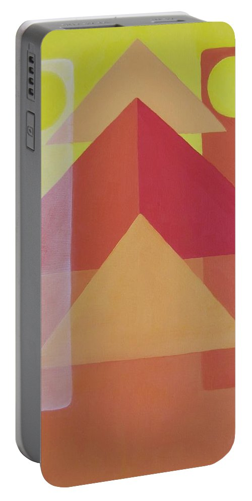 Giza Portable Battery Charger featuring the painting Giza by Michael TMAD Finney AKA MTEE