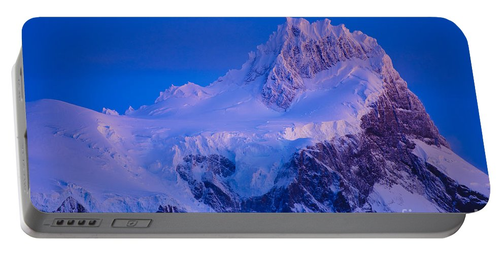 Chile Portable Battery Charger featuring the photograph Glacier Covered Paine Grande, Chile by John Shaw