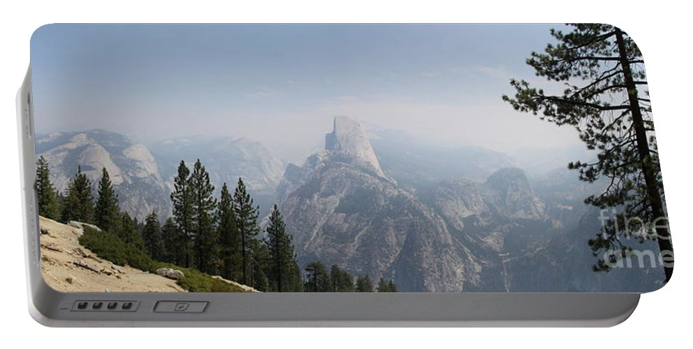 Glacier Point Portable Battery Charger featuring the photograph Glacier Point Panorama View by Christiane Schulze Art And Photography