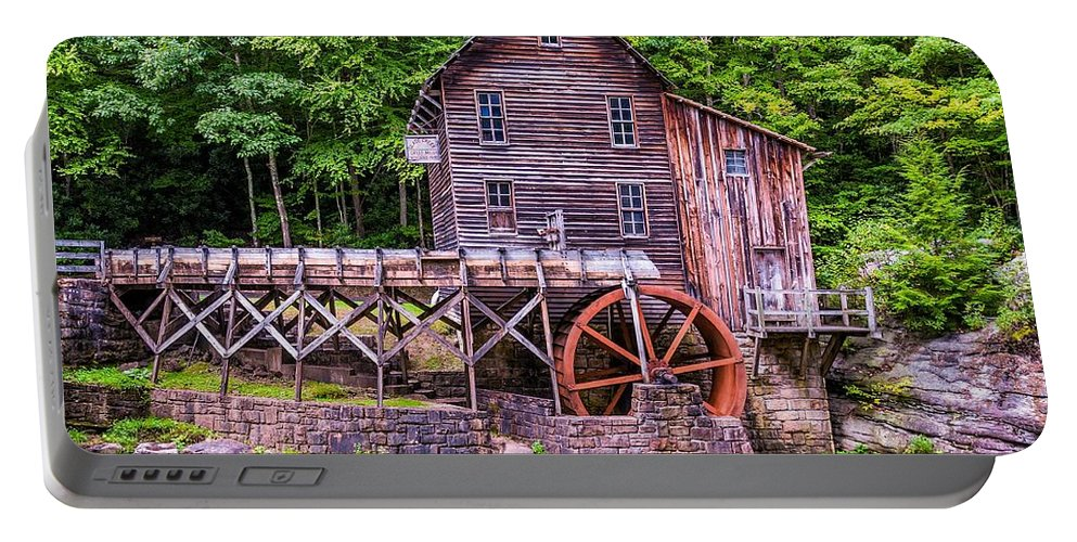 Mill Portable Battery Charger featuring the photograph Glade Creek Grist Mill by Steve Harrington