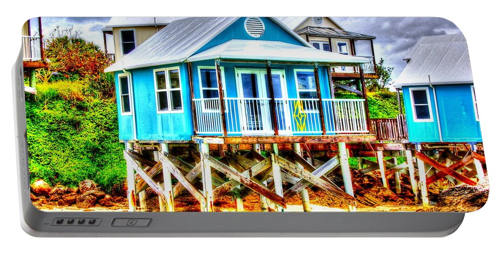 Bermuda Portable Battery Charger featuring the photograph Glamping by Debbi Granruth