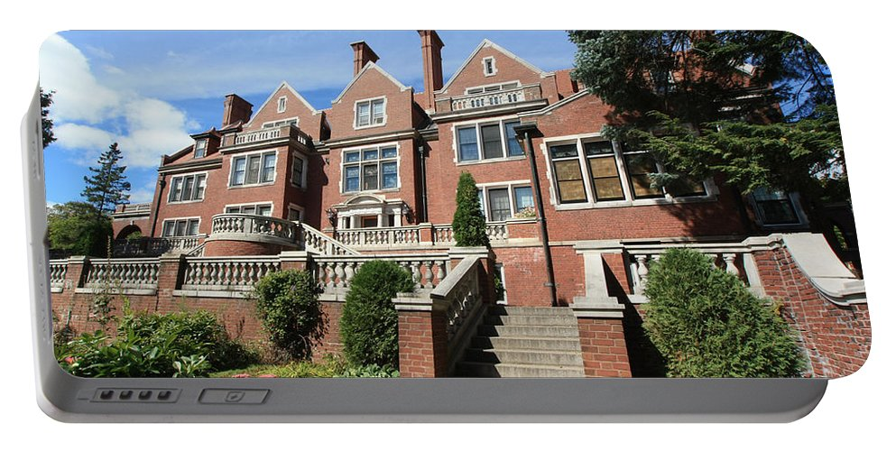 Congdon Portable Battery Charger featuring the photograph Glensheen Mansion Exterior by Amanda Stadther