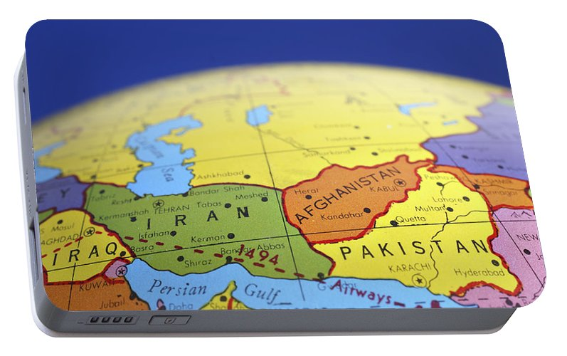 Global map of iran iraq afghanistan pakistan portable battery globe portable battery charger featuring the photograph global map of iran iraq afghanistan pakistan by donald gumiabroncs Gallery