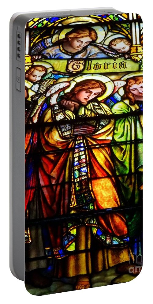 Stained Glass Portable Battery Charger featuring the photograph Gloria by Ed Weidman