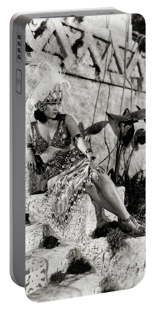 Silent Film Portable Battery Charger featuring the photograph Gloria Swanson - My American Wife by Sad Hill - Bizarre Los Angeles Archive