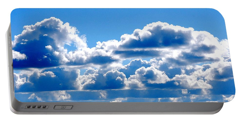 Cloud Portable Battery Charger featuring the photograph Glorious Clouds I by Kathy Sampson