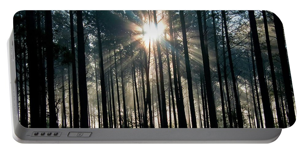 Fog Portable Battery Charger featuring the photograph Glory by Scott Hansen