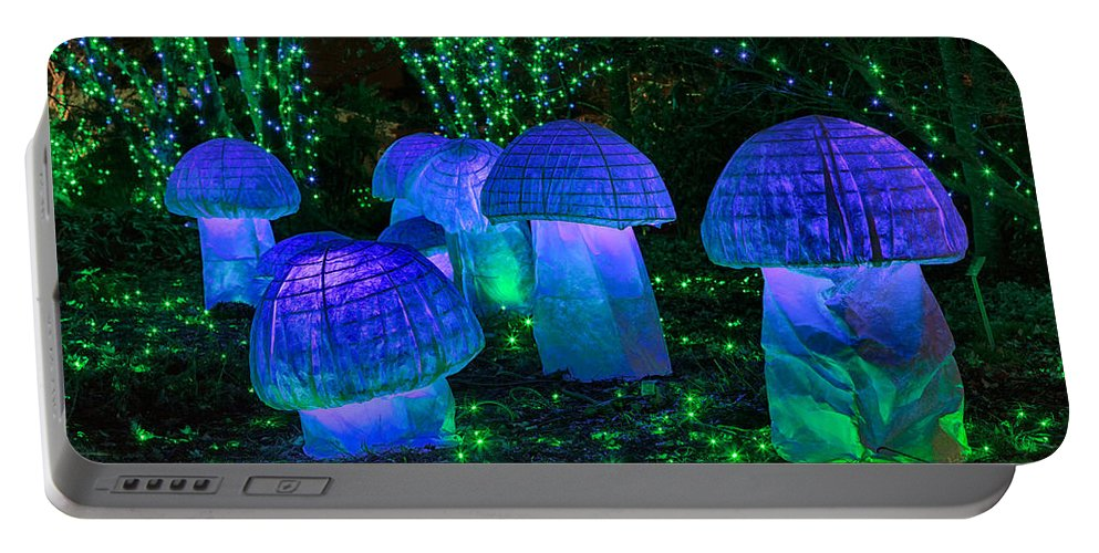 Cindy Archbell Portable Battery Charger featuring the photograph Glowing Mushrooms by Cindy Archbell