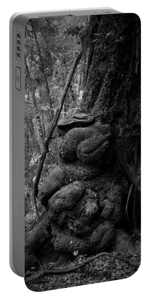 Black Portable Battery Charger featuring the photograph Gnarled Number 1 by Phil Penne