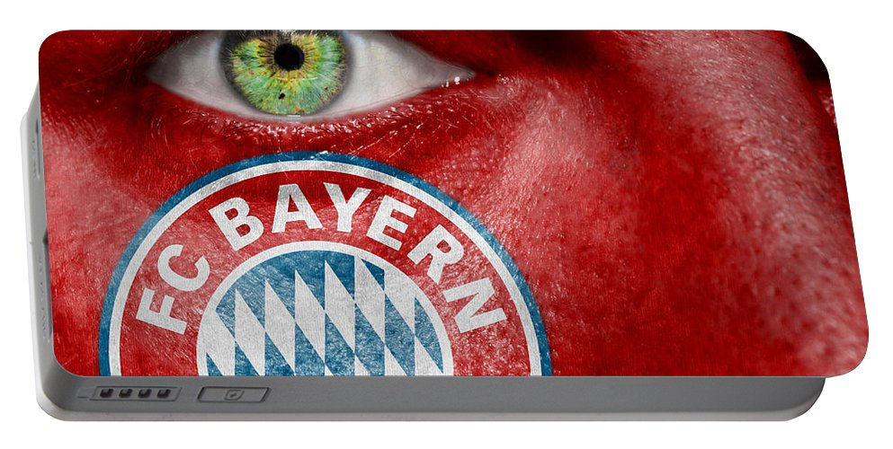 Art Portable Battery Charger featuring the photograph Go Fc Bayern Munchen by Semmick Photo