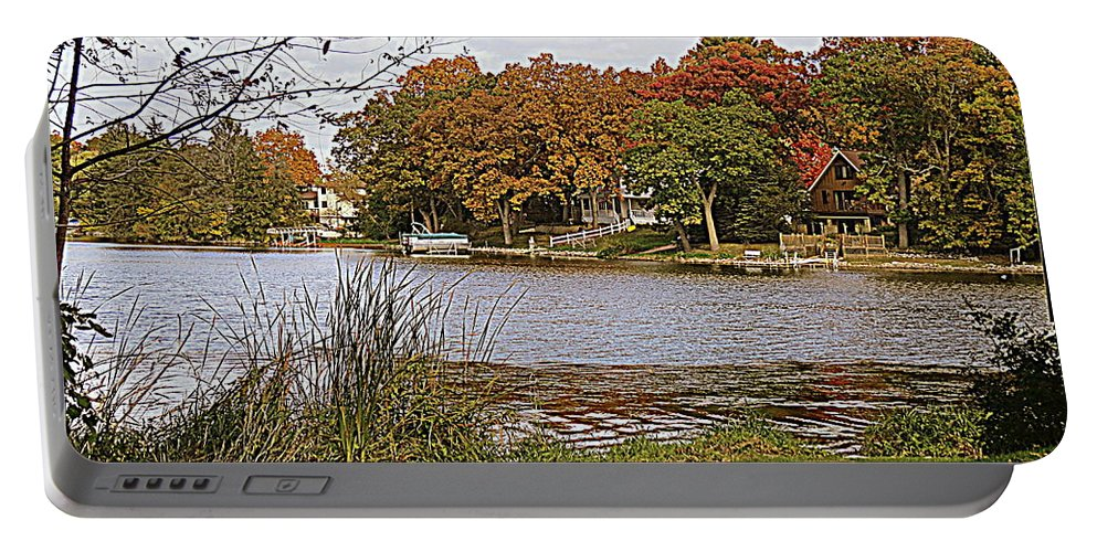Fox River Portable Battery Charger featuring the photograph Go Live On The River by Kay Novy