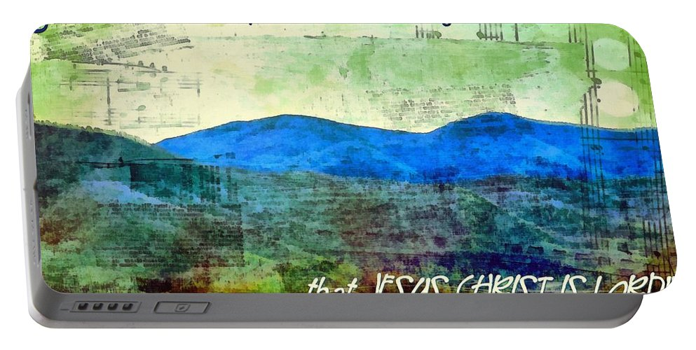 Jesus Portable Battery Charger featuring the digital art Go Tell It On The Mountain by Michelle Greene Wheeler