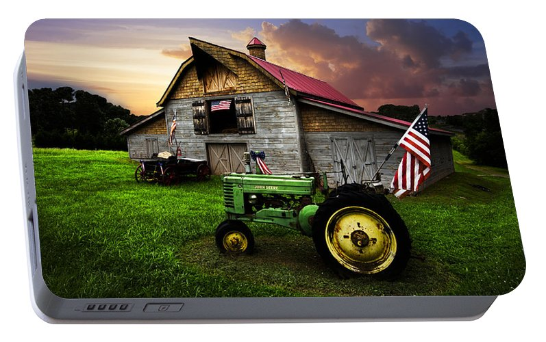 American Portable Battery Charger featuring the photograph God Bless America by Debra and Dave Vanderlaan