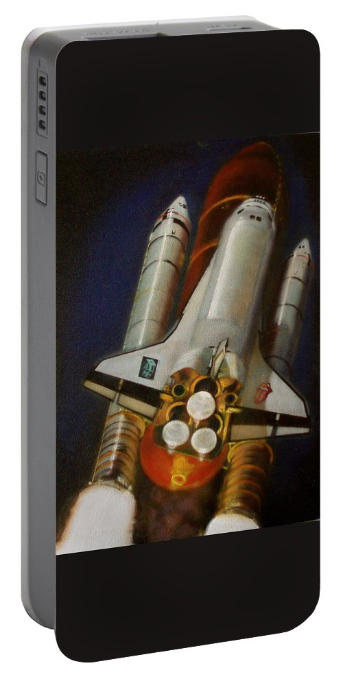 Oil Painting On Canvas Portable Battery Charger featuring the painting God Plays Dice by Sean Connolly