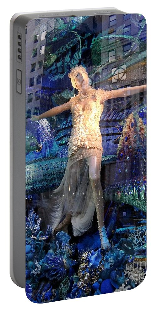 Mannequin Portable Battery Charger featuring the photograph Goddess Of The Sea by Ed Weidman