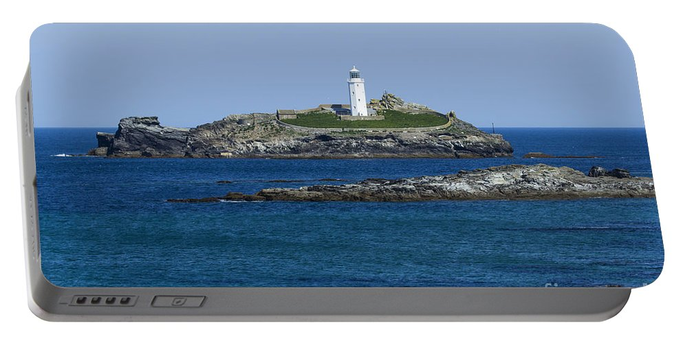 Landscape Portable Battery Charger featuring the photograph Photographs Of Cornwall Godrevy Lighthouse by Brian Roscorla
