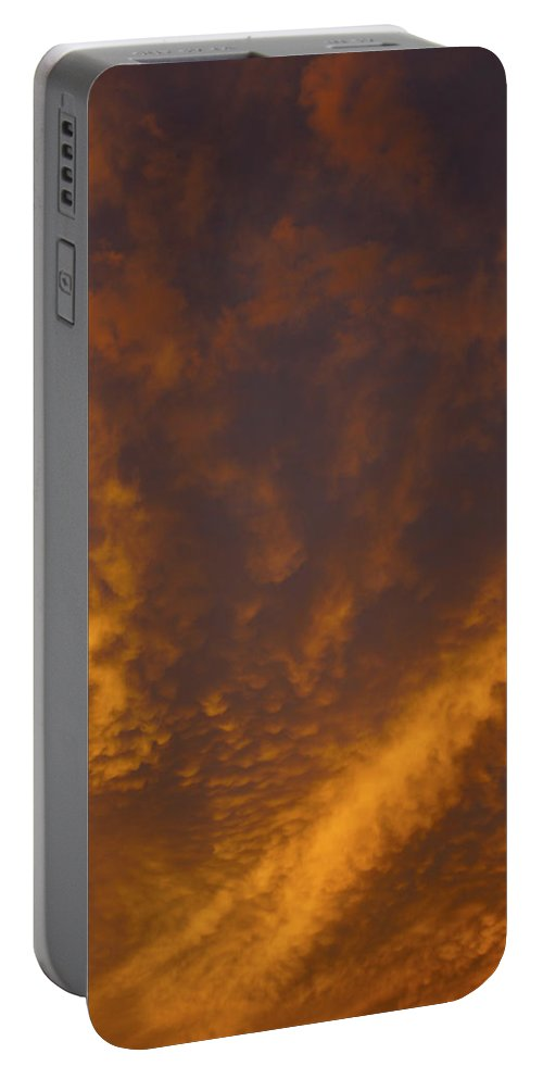 Sunset Portable Battery Charger featuring the photograph Gods Canvas by Tayne Hunsaker