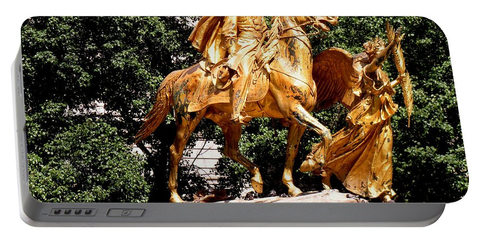 Statue Portable Battery Charger featuring the photograph God's Protection by Luther Fine Art