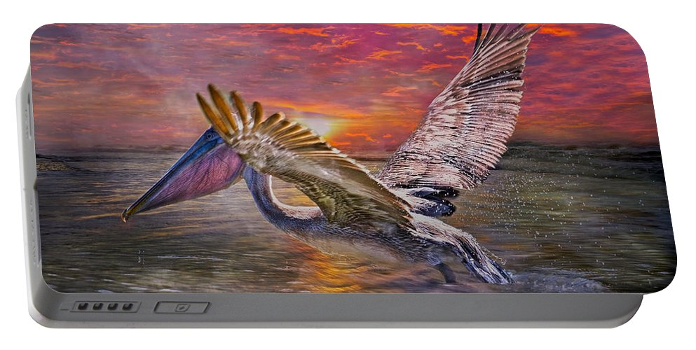 Brown Portable Battery Charger featuring the photograph Going Home by Betsy Knapp