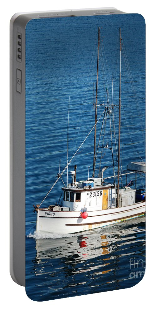 Boat Portable Battery Charger featuring the photograph Going Home by Flamingo Graphix John Ellis