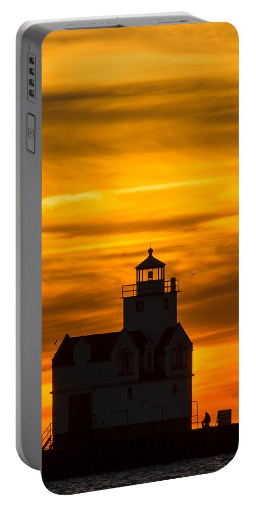 Lighthouse Portable Battery Charger featuring the photograph Gold Fusion by Bill Pevlor