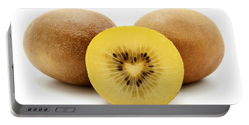 White Background Portable Battery Charger featuring the photograph Gold Kiwifruit by Fabrizio Troiani