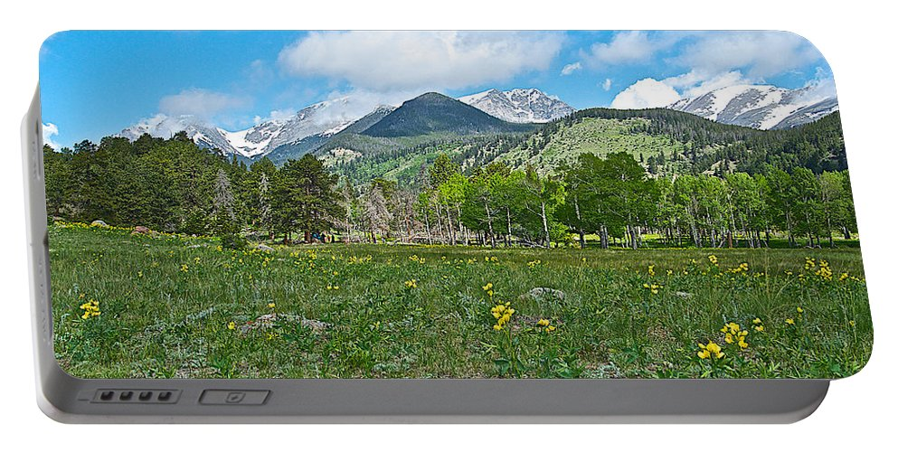 Golden Banner In Horseshoe Park In Rocky Mountain Np Portable Battery Charger featuring the photograph Golden Banner In Horseshoe Park In Rocky Mountain Np-co- by Ruth Hager