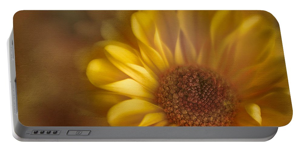Flower Portable Battery Charger featuring the photograph Golden Dahlia by David and Carol Kelly