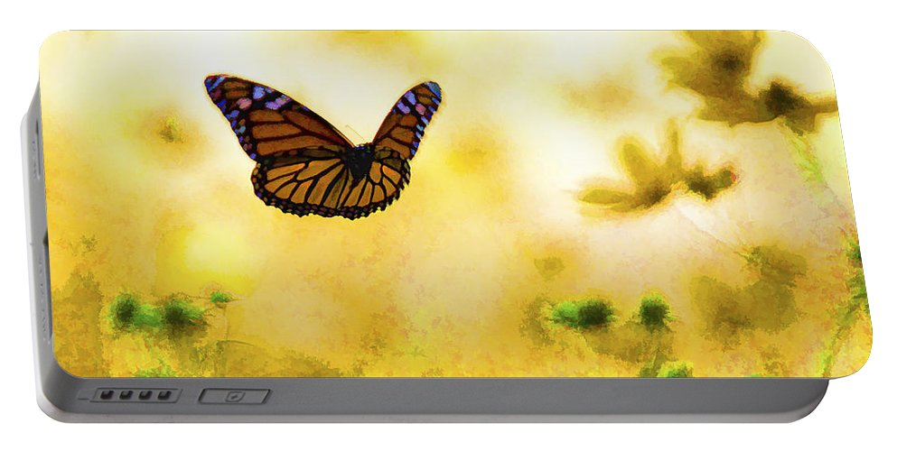 Background Portable Battery Charger featuring the photograph Golden Day by Jack R Perry