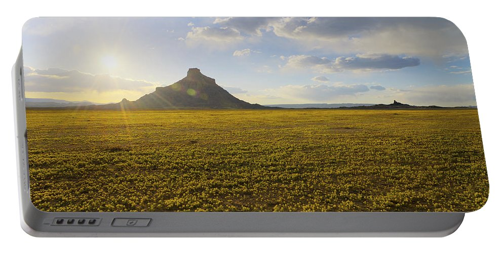 Utah Portable Battery Charger featuring the photograph Golden Desert by Chad Dutson