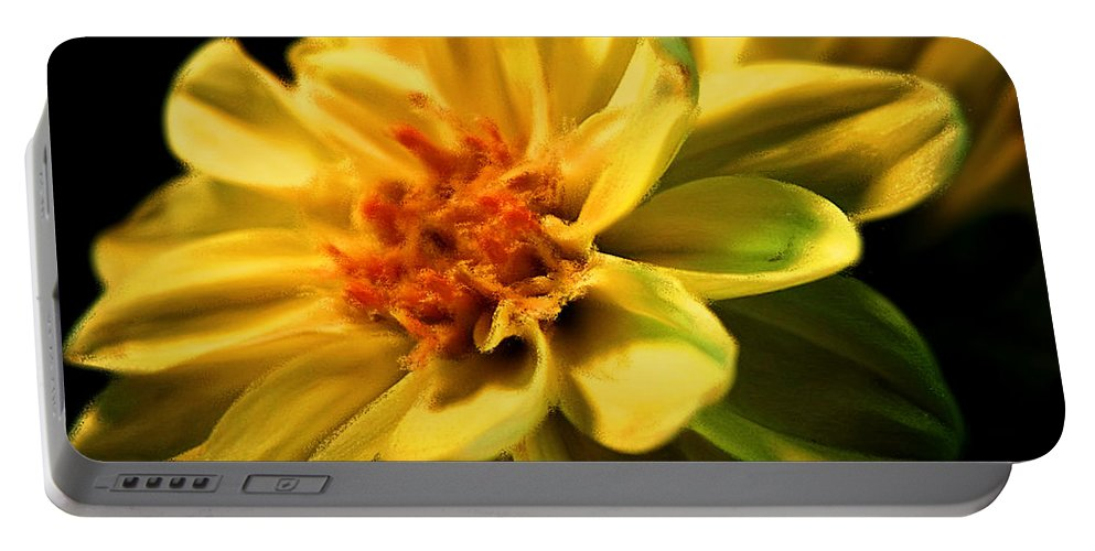 Flower Portable Battery Charger featuring the photograph Golden Flower by Georgiana Romanovna