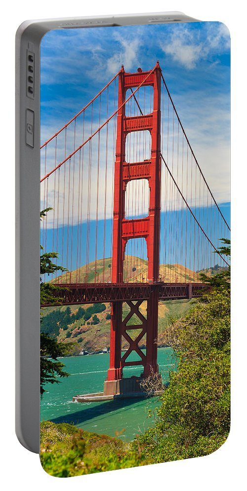 Architecture Portable Battery Charger featuring the photograph Golden Gate Bridge by Raul Rodriguez