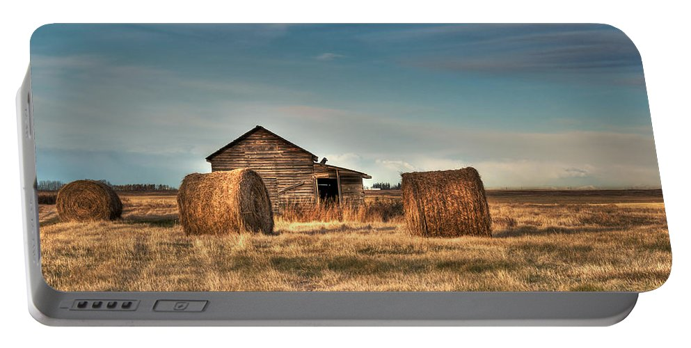Texture Portable Battery Charger featuring the photograph Golden Hay by Lisa Knechtel
