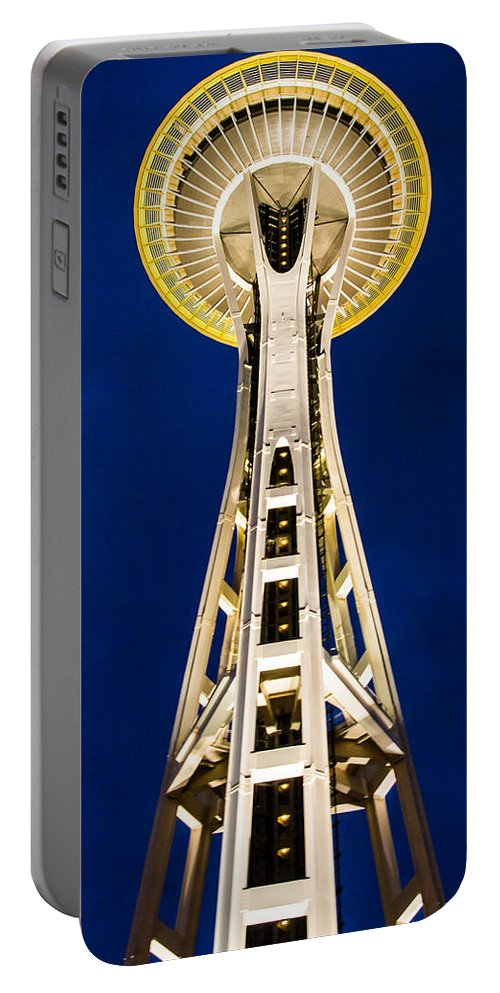 2008 Portable Battery Charger featuring the photograph Golden Hour Tower by Melinda Ledsome