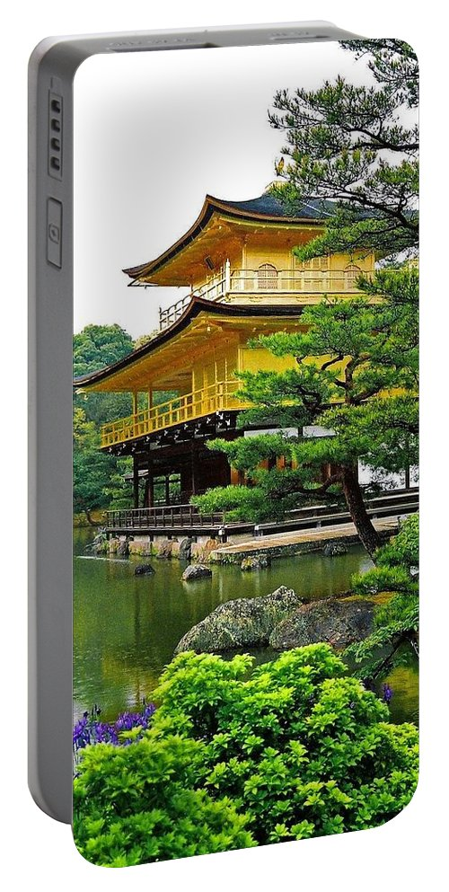 Asia Portable Battery Charger featuring the photograph Golden Pavilion - Kyoto by Juergen Weiss