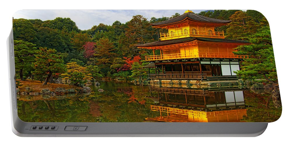 Pavilion Portable Battery Charger featuring the photograph Golden Pavilion by Midori Chan