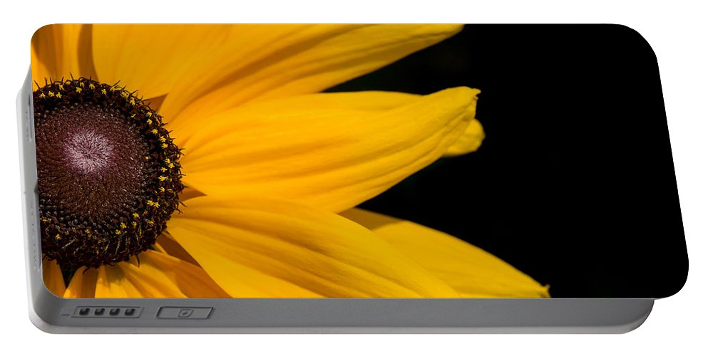 Flower Portable Battery Charger featuring the photograph Golden Petals by Penny Meyers